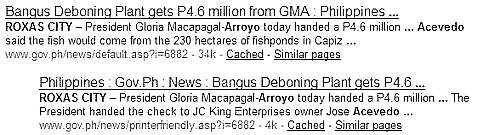 Gloria Arroyo  and the Acevedos